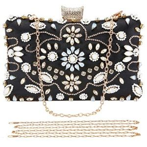 Crystal Beaded Clutch Evening Bag (NEW)